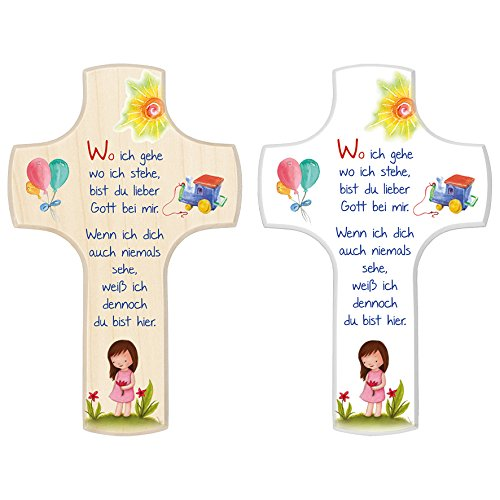 FRITZ COX® - Kinderkreuz 'Wo ich gehe', Mädchen, 14x9 cm, Ahorn