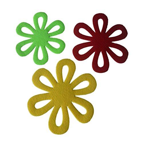 Gazechimp 6er Set Blumen Topfuntersetzer Korkuntersetzer Untersetzer für Ostern Party Dekoration
