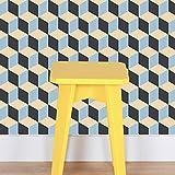 Flipside Papier peint pré-collé et décoller Peel and Stick Wallpaper Retro Tile