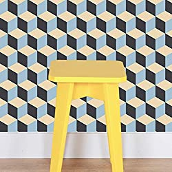 Peel and Stick Wallpaper - Retro Tile.