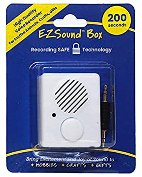 EZSound Box   200 seconds Voice Recorder for Stuffed Animals   Recordable Button Sound Box for Crafters Hobbyists etc   Voice Box for Recordable Gifts   Build a Bear Voice Recorder   Toy Recorder