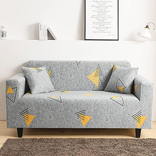 MKQB Funda de sofá elástica Estampada, Funda de sofá de Esquina en Forma de L para Sala de Estar, Funda Protectora Antideslizante NO.8 S (90-140cm)