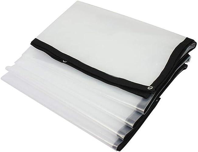 XRFHZT Feuille de Plastique épaisse bache en Plastique Transparent Tissu résistant à la Pluie bache épaisse rembourrée bache de Prougeection Contre la Pluie,3mX6m