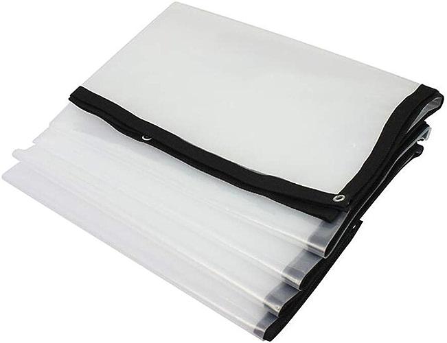 XRFHZT Bache imperméable en Plastique matelassé en Plastique Transparent bache en Plastique imperméable auvent Tissu épaississant auvent de Pluie,3mX6m