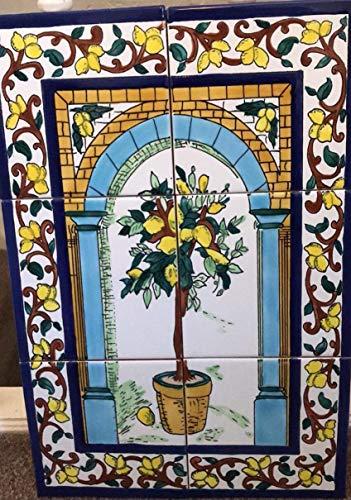 Ninos Tunesische Wandbild, handbemalte Fliesen.