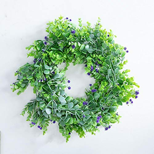 Cuisit 6.39ft Artificial Eucalyptus Garland Faux Eucalyptus Leaves Vines Handmade Plastic Garland Greenery Hanging Plant for Home Garden Indoor Outdoor Party Decoration
