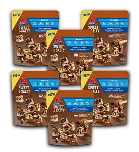 Atkins Sweet & Salty Honey Almond Vanilla Crunch Bites (Pack of 6) by AmazonUs/ATKC7