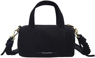 Ulisty Damen Klein Cord Tasche Mini Schultertasche Mode Umhängetasche Handtasche schwarz