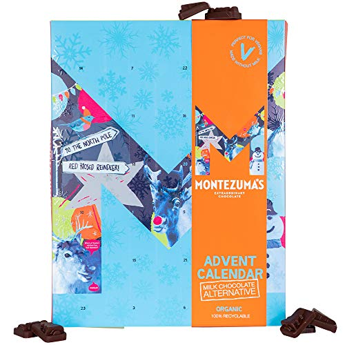 Montezuma's Christmas Milk Chocolate Alternative Advent Calendar, Vegan and Organic, 144g