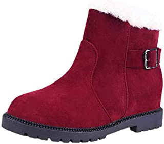 ZOSYNS Chelsea Enkellaarzen voor dames, winterlaarzen, katoenen schoenen, korte laarzen, warm gevoerd, modieus, casual, co...