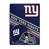 NORTHWEST NFL New York Giants Raschel Throw Blanket, 60' x 80', Slant