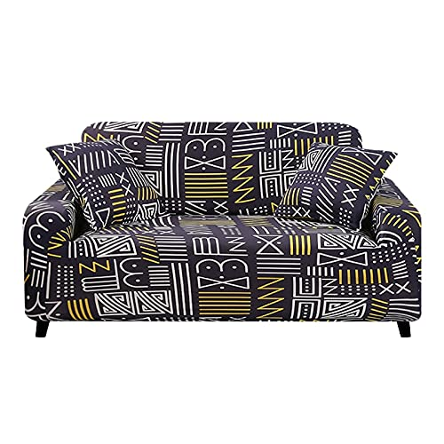 WXQY Funda de sofá Impresa,Funda de sofá elástica de Spandex,Funda de sofá Antideslizante de Esquina para Sala de Estar decoración del hogar A5 1 Plaza