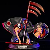 CUIGANGZ Naruto Shippuden Figure GK Akatsuki Squatting Hidan Doll Two-Headed...