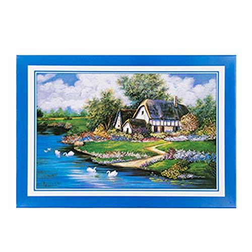 Yowablo Adult DIY Landscape Pattern Bild Puzzle Home Game 1000 Stück ( 75*50cm,A )