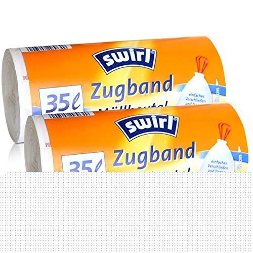 2x Swirl Zugband Müllbeutel 35L ( 15 stk./ Rolle )
