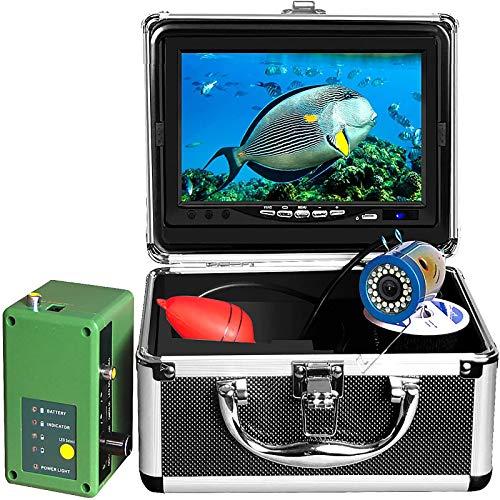 Pesca Submarina Cámara, Pantalla Táctil De 7 Pulgadas DVR 1080P Wifi Cámara De Hielo Pesca 1000TVL 30 Luces LED 30M Cable De Vídeo Portátil Buscador De Los Pescados, De Hielo, Lago, Mar,15m cable WF
