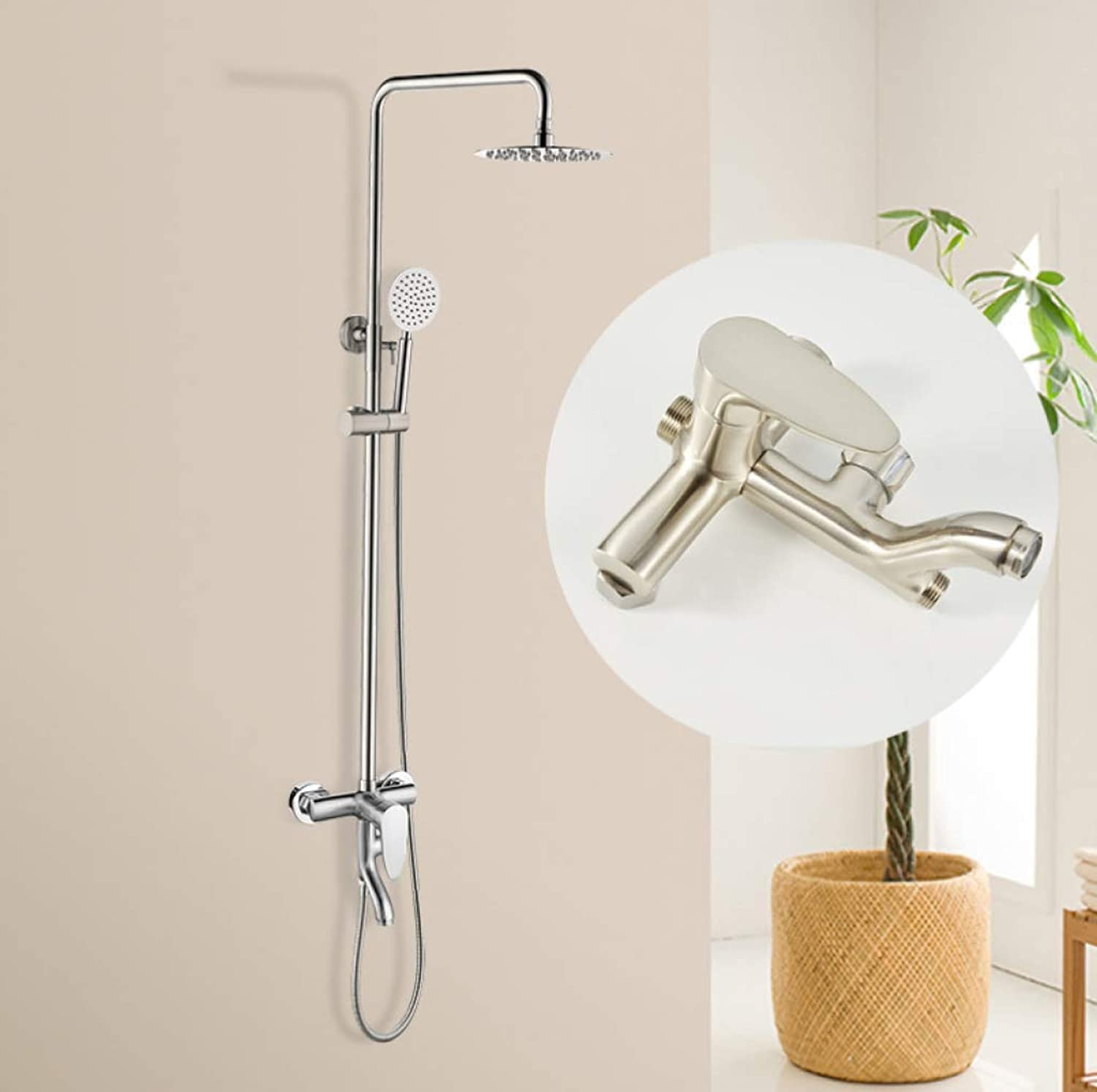 FOTEE Shower Faucets Sets Complete, Stainless Steel Pressurized Shower Head, Shower Combo Set, Bring The Ultimate Shower Experience