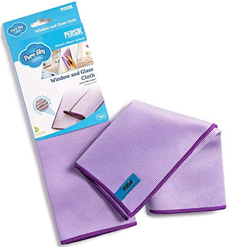 Pure-Sky Window Glass Cleaning Cloth - JUST ADD WATER No Detergents Needed – Streak Free Magic ULTRA Microfiber Window Polishing Towel - for Windows, Glass, Mirror and Screen - Leaves no Wiping Marks