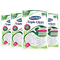 DenTek Triple Clean Floss Picks, 360 Count (4 X 90 Count Packages) by DenTek