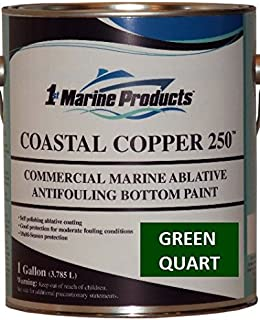 US Marine Products Coastal Copper 250 Ablative Antifouling Bottom Paint Green Quart