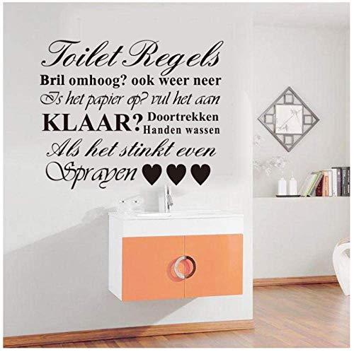 Vinyl muur Applique kunst behang wc regel muur stickers poster stickers muur decoratie huis decoratie kamer decoratie 58 x 70 cm