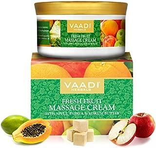 Vaadi Herbals Fresh Fruit Massage Cream with Apple, Orange, Papaya & Kokum Butter