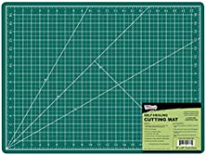 "US Art Supply 18\"" x 24\\"" GREEN/BLACK Professional Self Healing 5-Ply Double Sided Durable Non-Slip PVC Cutting Mat Great for Scrapbooking, Quilting, Sewing and all Arts & Crafts Projects"