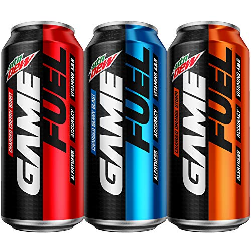 12 Pack of Mountain Dew Game Fuel 3 Flavor 16 oz. cans Only $11