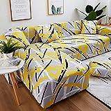 WXQY Conjunto de sofás geométricos Todo Incluido Funda de sofá Sala de Estar Funda de sofá para Mascotas Esquina en Forma de L Chaise Longue Funda de sofá A6 4 plazas