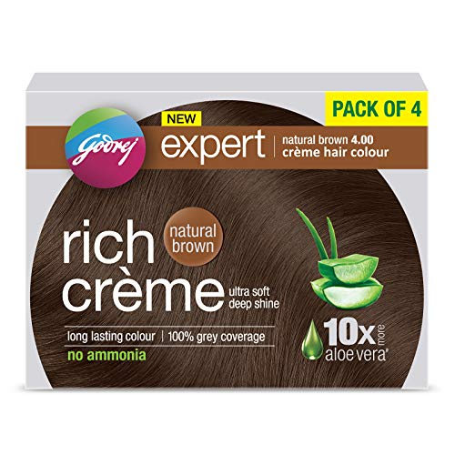 Godrej Expert Rich Creme Hair Colour (Shade 4.00, NATURAL BROWN), Pack of 4