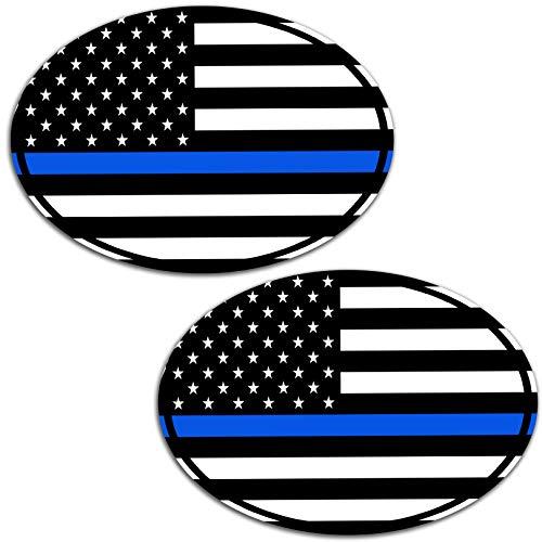 Vinyl USA Amerika America Amerikaanse Thin Blue/Blue Line vlag sticker autosticker sticker auto moto motorfiets helm raam tuning B 228