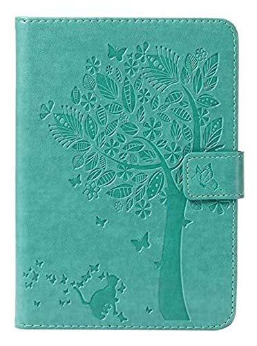 ZRH Accesorios de pestañas para Amazon Kindle Paperwhite 4 2018 10ª generación, Cubierta de Estampado de árbol de Gato para Paperwhite 1 2 3 4, Caso + Película + Pen 6 Pulgadas (Color : Green)