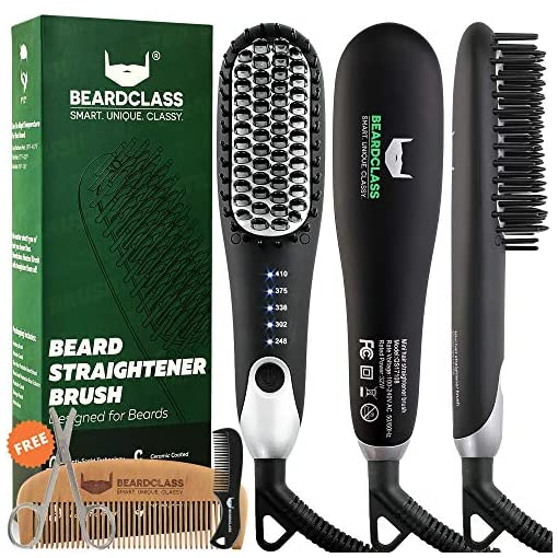 BEARDCLASS Premium Beard Straightener Comb - USA Designed for Beards! Fast Heating Electric Straightening Brush for Men with Anti-Scald Technology - Adjustable Temperature Portable Heated Straightner - 51JWrVQ9omL - BEARDCLASS Premium Beard Straightener Comb – USA Designed for Beards! Fast Heating Electric Straightening Brush for Men with Anti-Scald Technology – Adjustable Temperature Portable Heated Straightner