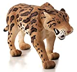 MOJO Smilodon (Sabre Tooth Tiger) Realistic Prehistoric Extinct Animal Collection Hand Painted Toy Figurine
