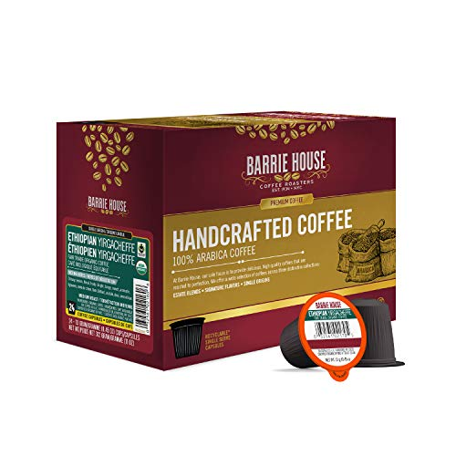 Barrie House Ethiopian Yirgacheffe Single Serve Coffee Pods, 24 Pack |...