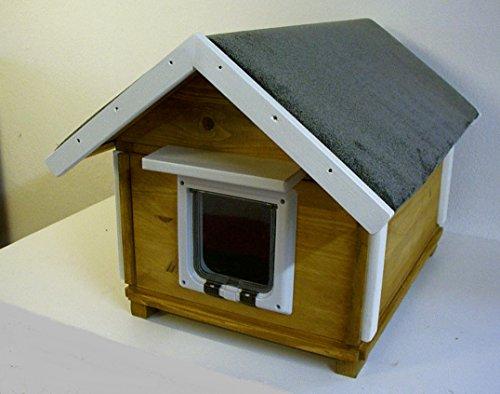 TTF Katzenhaus Outdoor Boden isoliert mit Katzenklappe