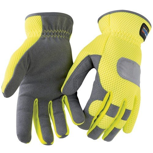 Handschoen handwerk High Vis geel/grijs 10 geel/grijs.