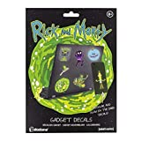Paladone - Rick and Morty Gadget Decals - Reusable Vinyl Sticker Clings