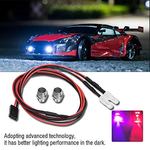 RC LED Licht Kits, 2PCS 5mm Scheinwerfer RC Zubehör LED Lichter für 1/10 Modell Drift Auto Fahrzeug( 10 # Farbenlicht)
