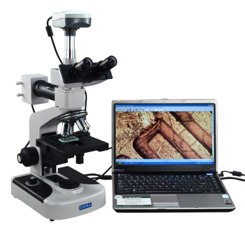 OMAX 40X-1600X Digital Trinocular Metallurgical Microscope with Double Layer Mechanical Stage and 9.0MP USB Camera