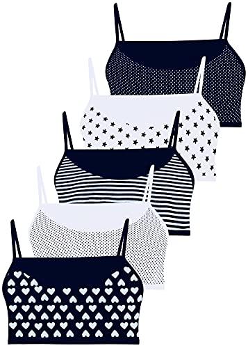 LOREZA ® 5 Brassières en Coton pour Fille sous-vêtements- modèle 1-12-13 Ans