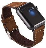 OKCS Armband für Watch Series 1, Series 2, Series 3 -ECHTES LEDER- Uhrenband Strap 38 mm +...
