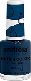 Andreia Professional NutriColor - Esmalte de uñas vegano transpirable - Color NC24 Blue Teal - 10.5ml