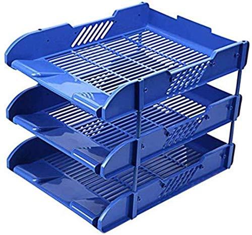 File cabinet File Gabinetti di casa Filer 3 Vassoio Dati Desktop vano portaoggetti Titolare di File di plastica Blu 25 * 33 * 25cm Home Office Furniture Armadi archivio