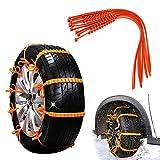 MHJF Bridas Antideslizantes para vehículos portátiles, Kits de Bridas para Cables Ruedas de Coche de Invierno Cadenas de Nieve universales