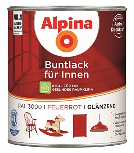 Alpina Buntlack für Innen - 750 ml - Ral 3000 Feuerrot glänzend