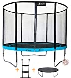 Kangui - Trampoline de Jardin Rond 305 cm + Filet de sécurité + échelle + bâche de Protection PUNCHI Atoll 300