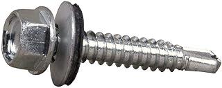DOJA Industrial | Tornillos Autotaladrantes M4 | PACK 100 | 4,8 x 16 mm | Tornillos roscachapa hexagonal con arandela para chapa aluminio o cubiertas | Tornillos autoperforantes autorroscantes broca