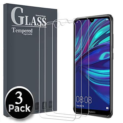 Panzerglas Schutzfolie für Huawei Y7 Prime 2019/ Huawei Y7 Pro 2019/ Huawei Y7 2019, [3 Pack] Gehärtetes Glas Displayschutzfolie (Transparent)