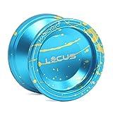 MAGICYOYO V6 Locus Débutants Yoyo Yo-yos Réactif pour Kids Boys Yoyos Sac à Gants et 5 Cordes, Bleu et Or